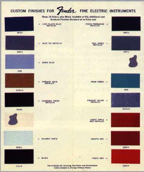 1966 mustang color chart autos post. Black Bedroom Furniture Sets. Home Design Ideas